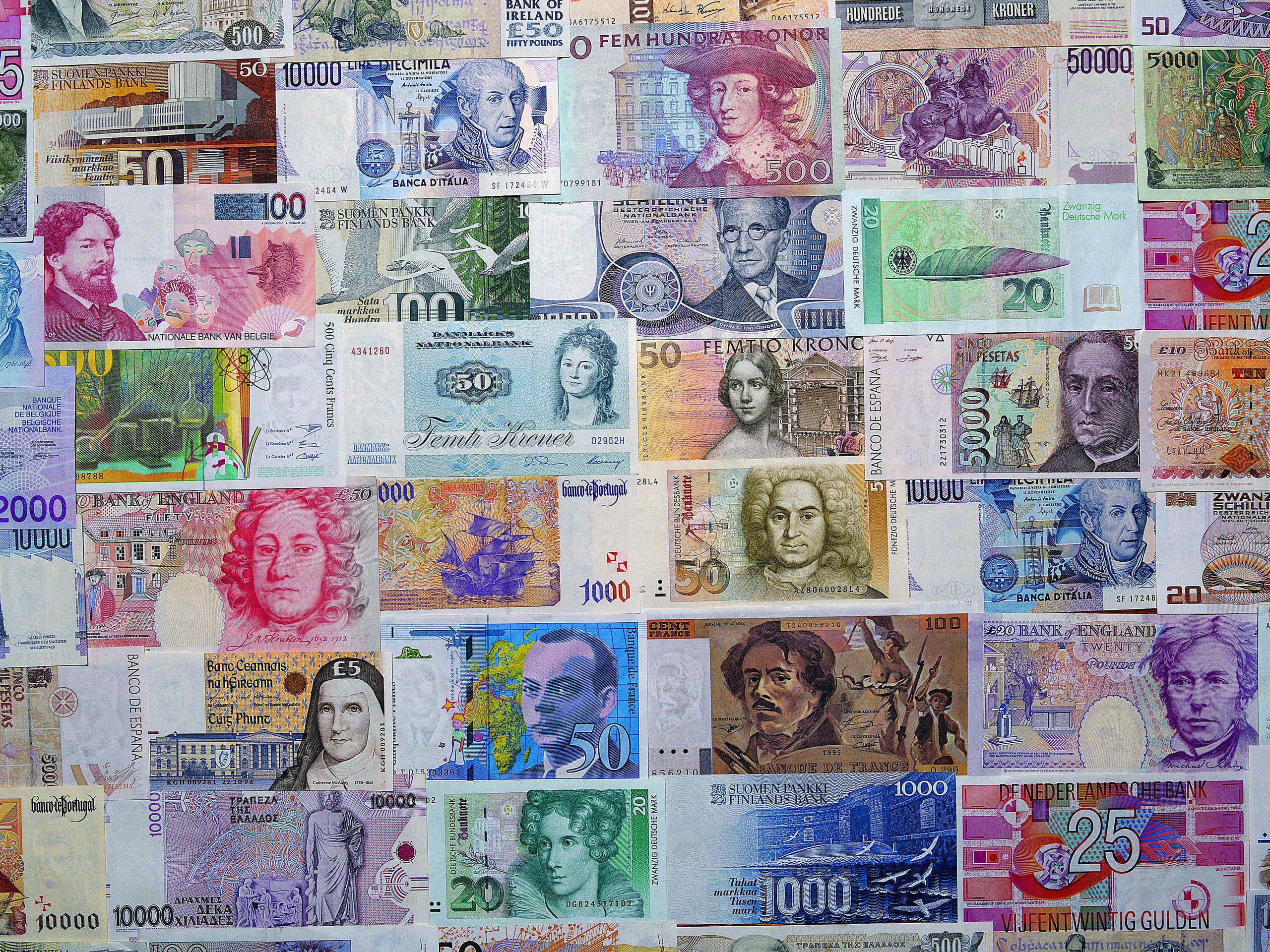 Collage of Banknotes
